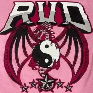 "Rob Van Dam ""Rise Above Cancer"" Pink T-Shirt"